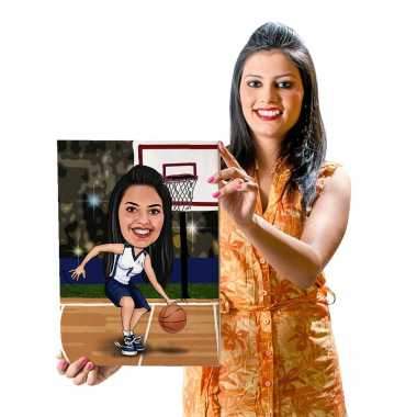 Basketball - Caricature Canvas