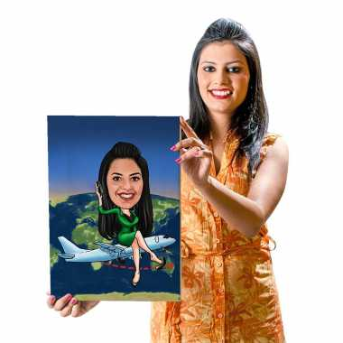 Around The World - Caricature Canvas