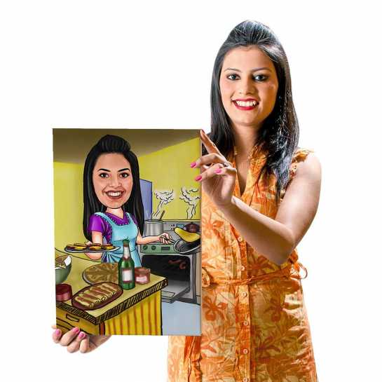 Cooking - Caricature Canvas
