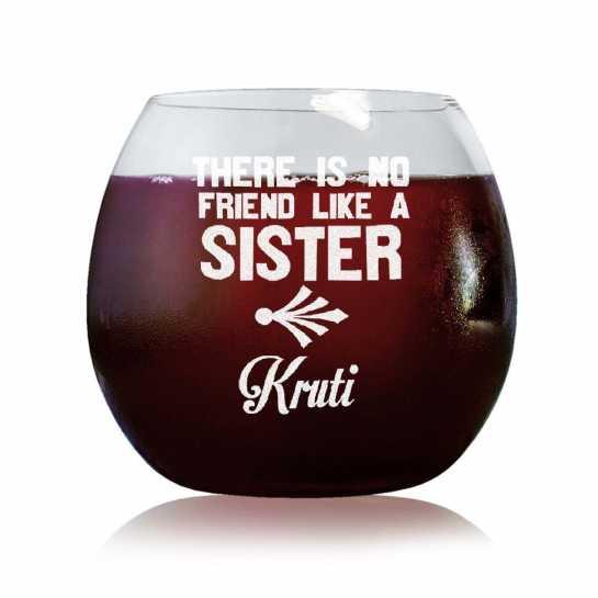 No Friend Like Sister - Stylish Wine Glasses