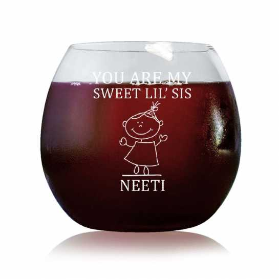 Sweet Little Sis - Stylish Wine Glasses