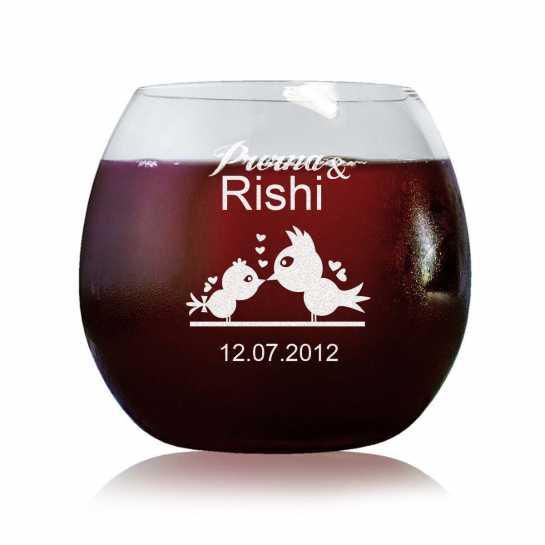 Love Birds - Stylish Wine Glasses