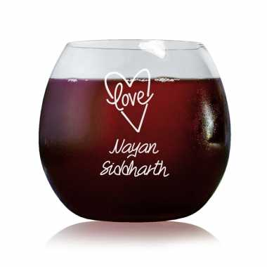 Love From Heart - Stylish Wine Glasses