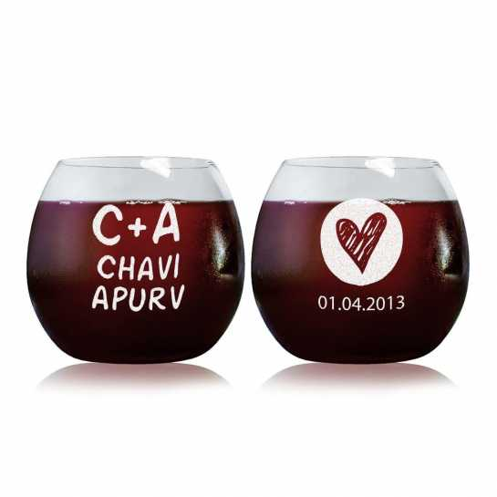Always Together - Stylish Wine Glasses