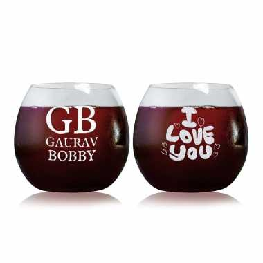 Eternal Love Story - Stylish Wine Glasses