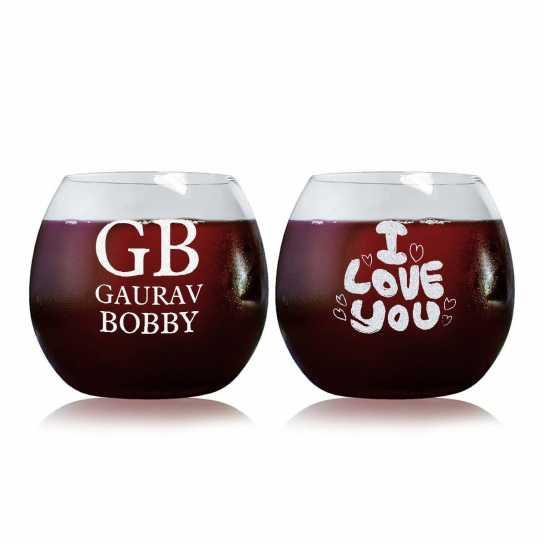 Eternal Love Story - Stylish Wine Glasses