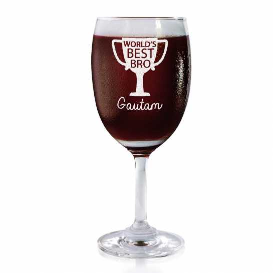 World's Best Bro - Wine Glasses