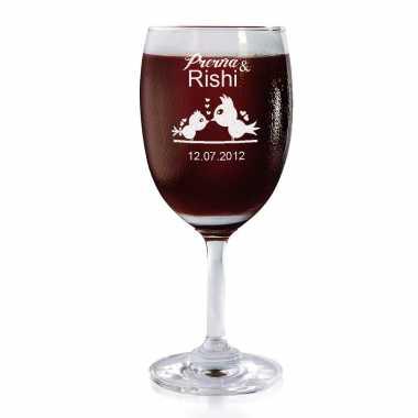 Love Birds - Wine Glasses