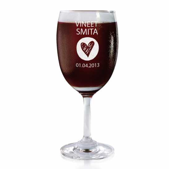 Bottom Of My Heart - Wine Glasses