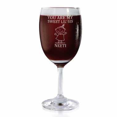 Sweet Little Sis - Wine Glasses