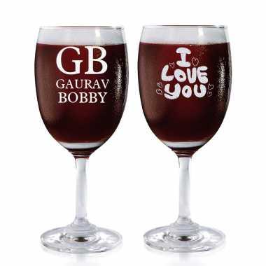 Eternal Love Story - Wine Glasses