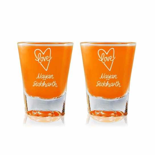 Love From Heart - Shot Glasses