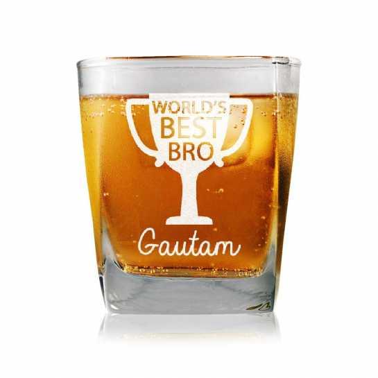 World's Best Bro - Whisky Glasses