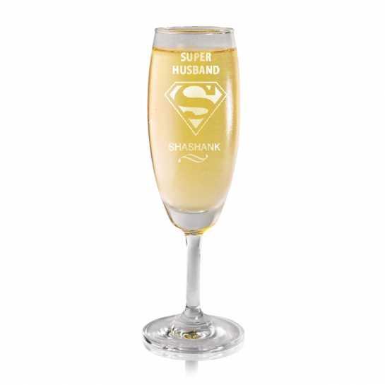 Super Husband - Champagne Glass