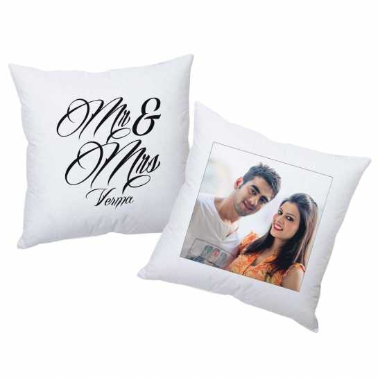 Mr and Mrs Photo - Personalized Cushions