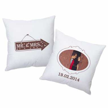 Mr and Mrs (Brown) - Personalized Cushions