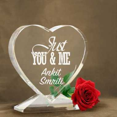 Just You and Me - Heart Shaped Crystal