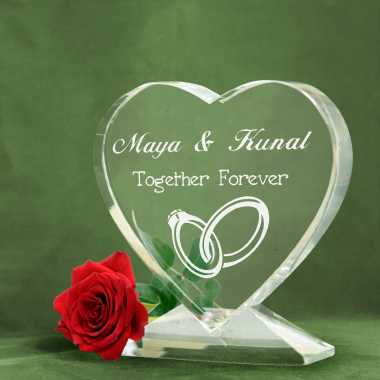 Together Forever - Heart Shaped Crystal