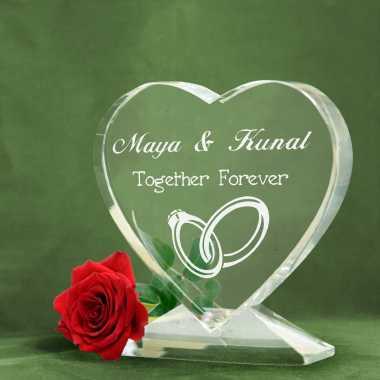 Together Forever - Heart Shaped Crystal