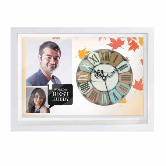 Personalized Photo Canvas Clock Husband
