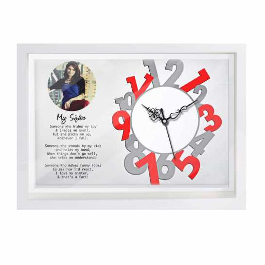 Personalized Photo Canvas Clock for Sister