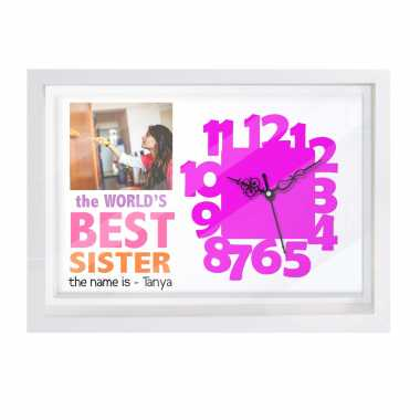 Personalized Canvas Clock for Sister