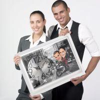 Bike Couple - Caricature Canvas Clock