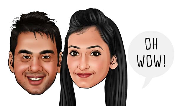 brother sister caricature