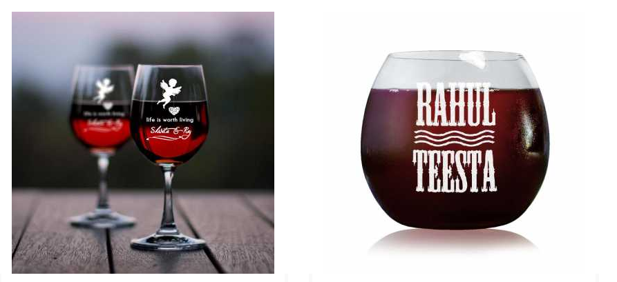 valentine day wine glasses