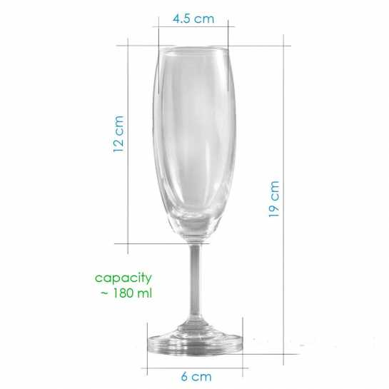 champagne glass description