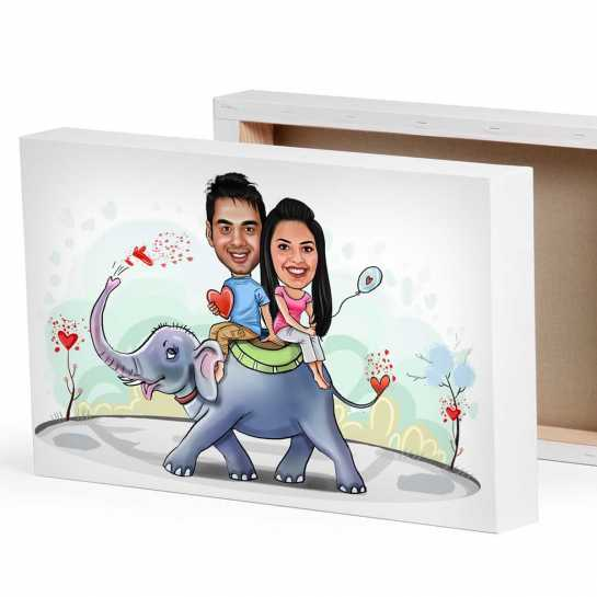 Couple of Elephant - Valentine day theme for couples