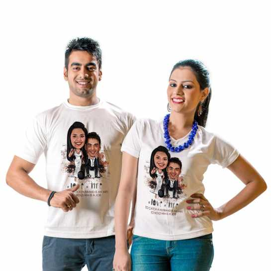 Top 10 gift ideas for husband on valentines - husband wife tshirt