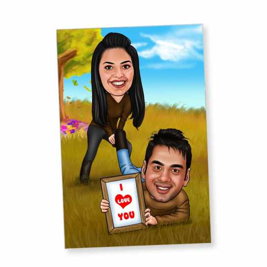 Top 10 Romantic gifts for husband on valentine - caricature magnet