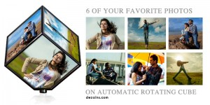 Photo Cube Gift for Birthday and Anniversary Gift
