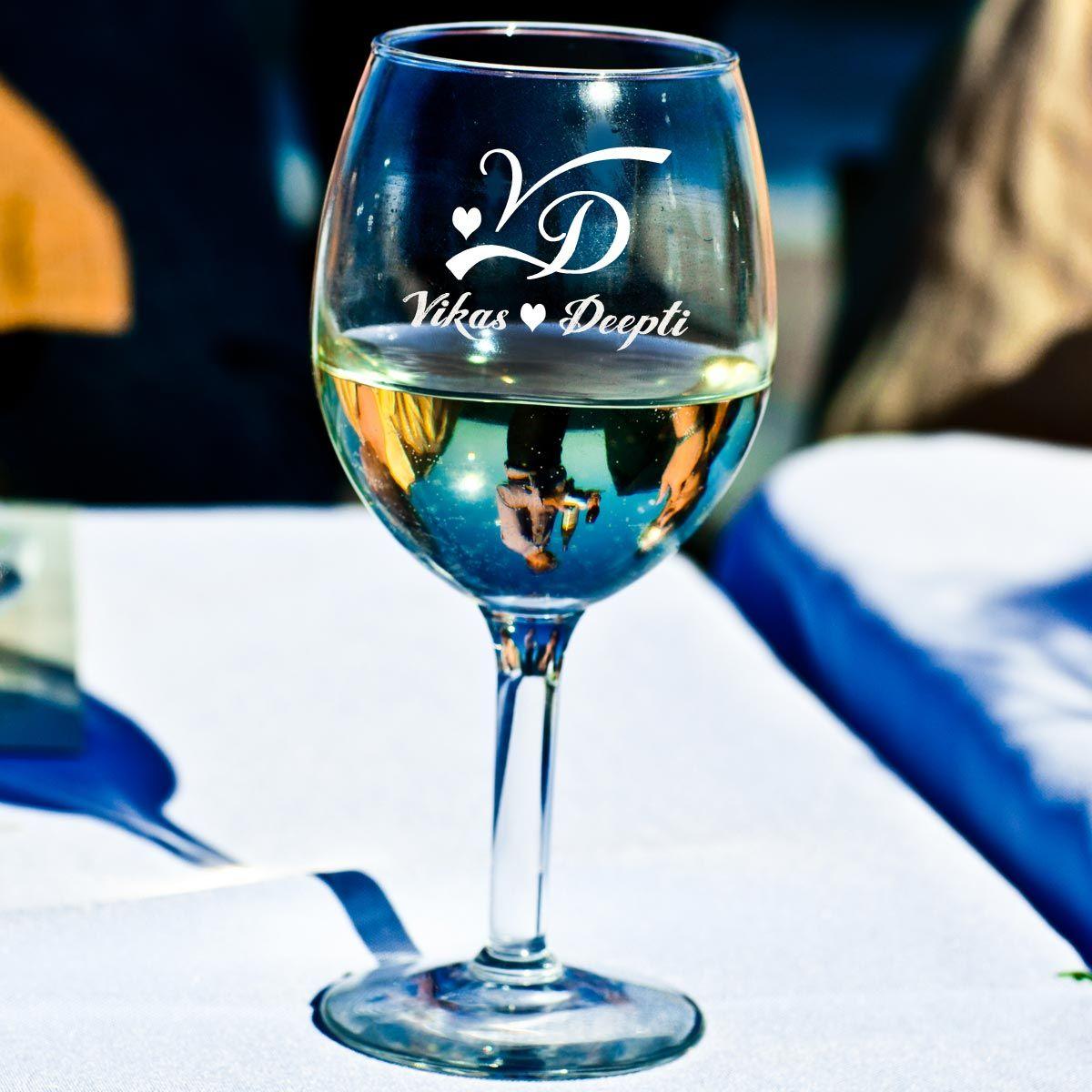 engrave wine glasses
