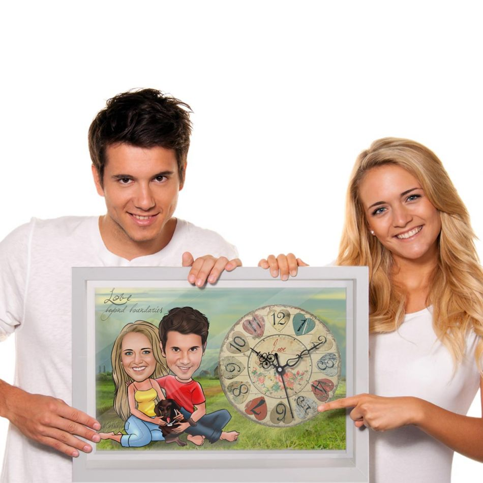 anniversary gifts for wife clock caricature