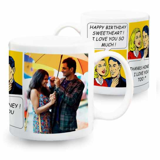 husband birthday gift photo mug