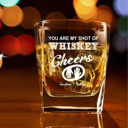 whiskey glass - husband gift - personalized