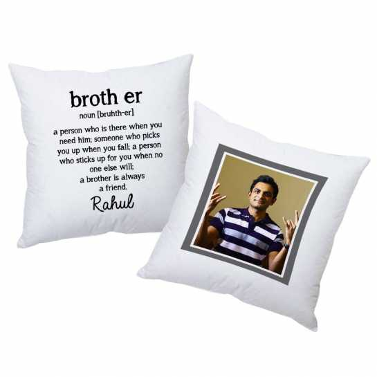 Birthday Gifts for Brother - Customized Cushion