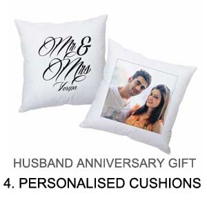 anniversary gift for husband - photo cushion