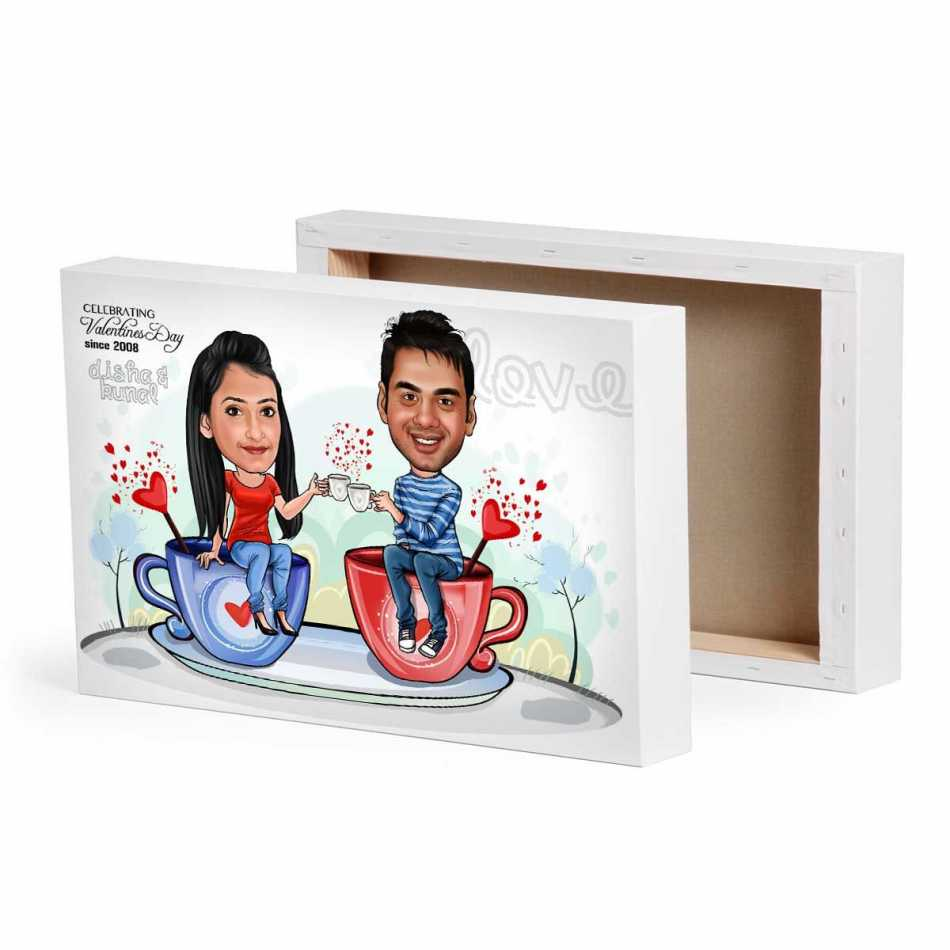 valentine gifts for wife - Caricature Canvas