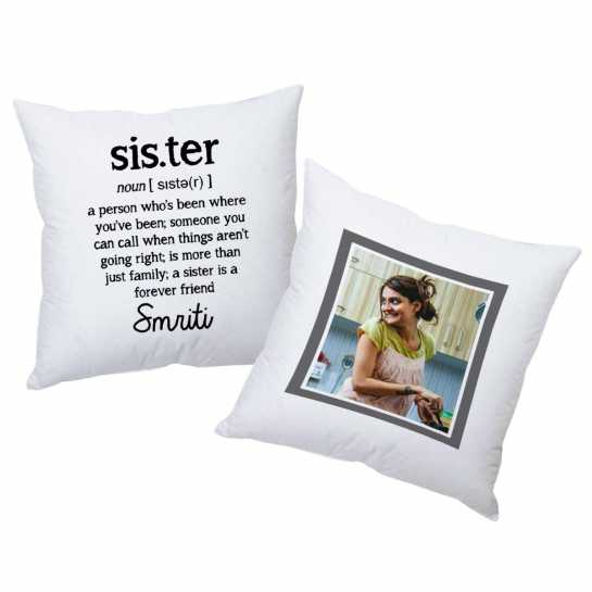 Birthday Gifts for Sister - Personalized Cushion