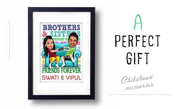 caricature frame gift for brother