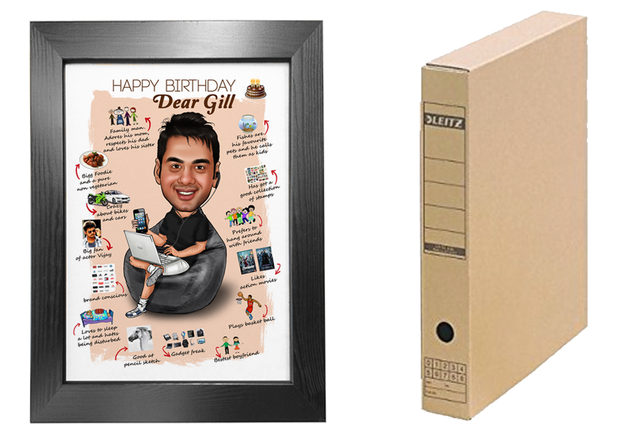 Personalized Gifts for Boyfriend - Caricature Poster