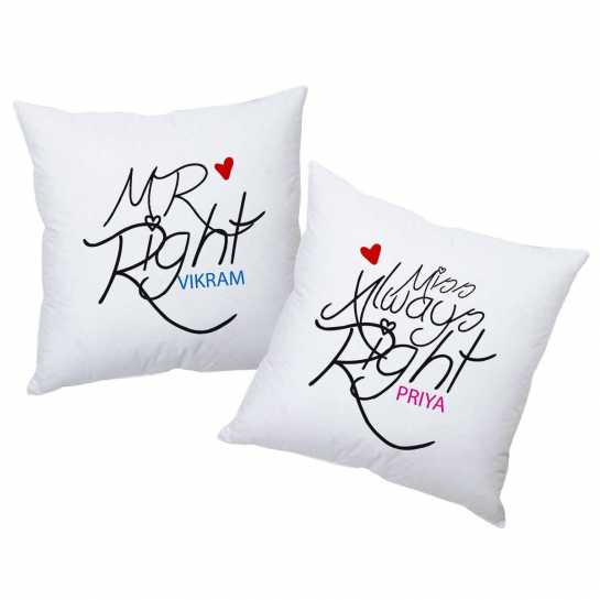 personalized cushions - husband anniversary gifts