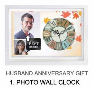 anniversary gift for husband - wall clock