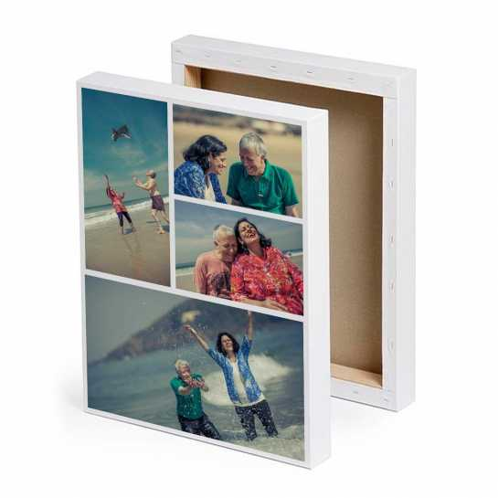 Photo Collage Canvas Print for Parents Anniversary Gift