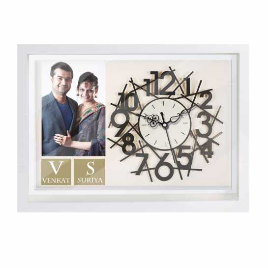 valentine gift for wife - photo wall clock
