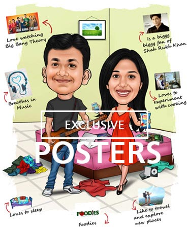 caricature poster by dezains